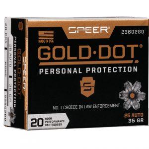 SPEER AMMO 40 S&W 180GR HP GOLD DOT (20pk)